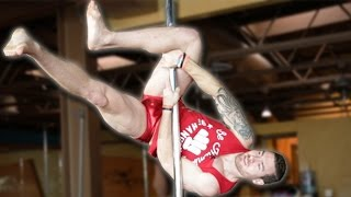 Bodybuilders Try Pole Dancing