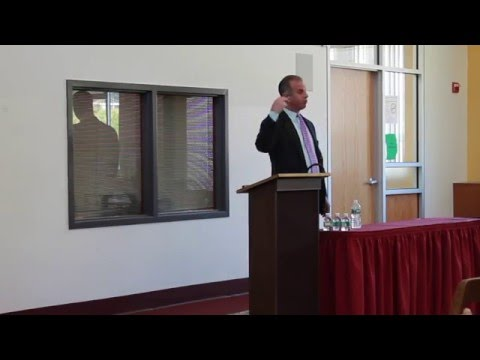 Guy Adami of CNBC's Fast Money at St.Thomas Aquinas College