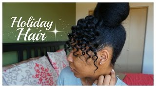 Faux Curly Bangs High Bun Natural Hair T Keyah B