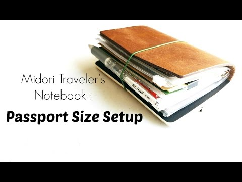 Midori Traveler's Notebook Passport Size- My Current Setup and How I Use it