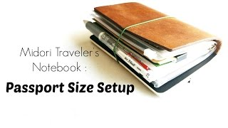 midori traveler s notebook passport size my current setup and how i use it