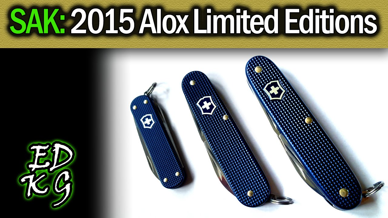 Sak 2015 Limited Edition Alox Models Victorinox Classic