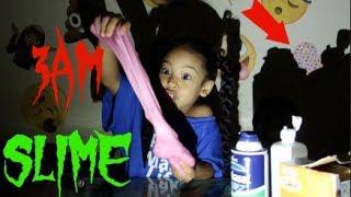 3AM SLIME!!! DO NOT MAKE FLUFFY SLIME AT 3AM!!!