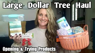 Large Dollar Tree Haul* DIY* All New* Opening Products & Ideas* Feb 24