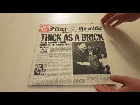 Thick as a Brick by Jethro Tull: original LP cover