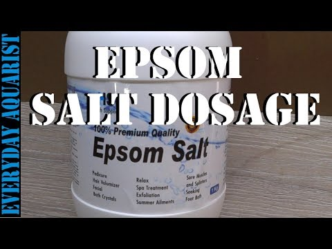 Epsom Salts Cure For Aquarium Fish With Dropsy, Constipation Or Bloating