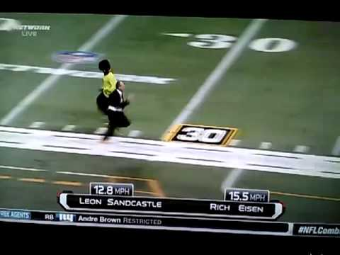 Rich Eisen 40 Yard Dash Vs Deion Sanders 2013