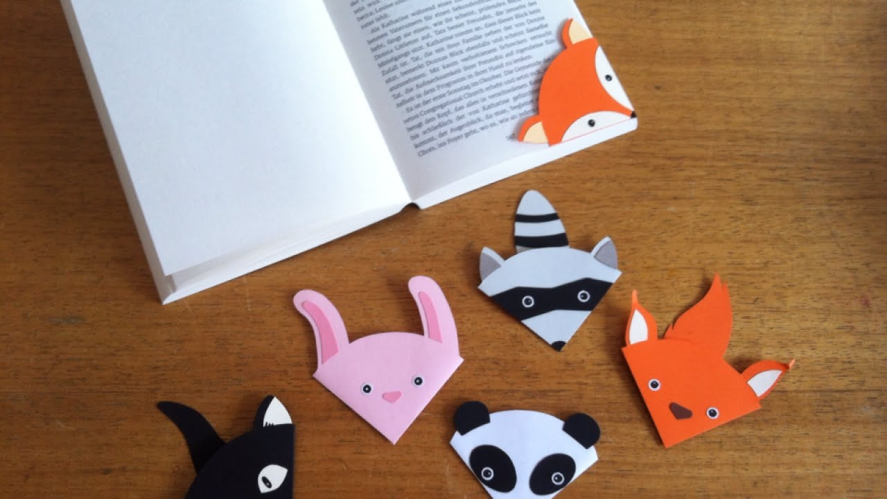how to make a cute animal bookmark - diy crafts tutorial