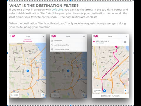 Review of the Lyft Driver App's New Destination Filter