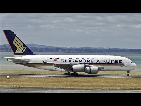 [4K] Heavy Traffic at Auckland Airport   B747, B777, B787, A350, A380 & More