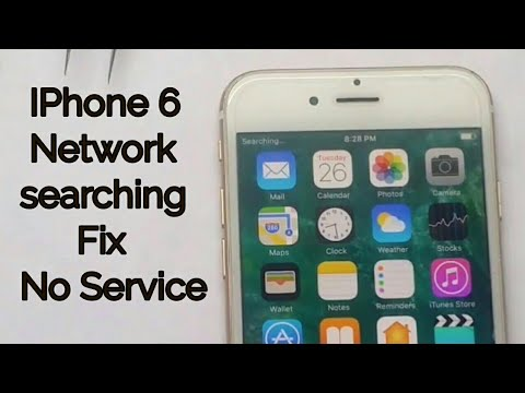 Apple I Phone 6 searching network solution by network ic