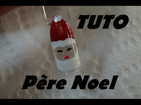 tuto nail art pere noel sur ongle facile faire pour d butante 5 tapes youtube. Black Bedroom Furniture Sets. Home Design Ideas