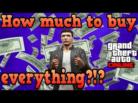 How much would it cost to buy everything in GTA Online?