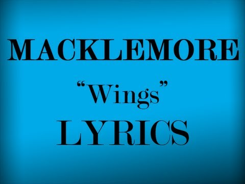 Wings Lyrics Video - Macklemore