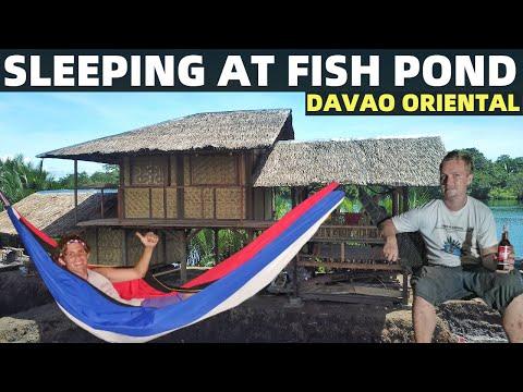 SLEEPING IN FILIPINO FISH POND HOUSE – Philippines Local Barangay Life (Davao, Mindanao)