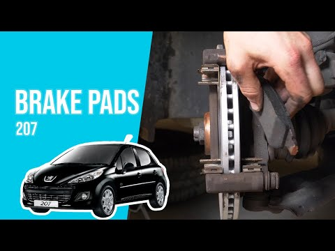 How to replace the front brake pads PEUGEOT 207 🚗