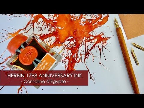 HERBIN 1798 Anniversary Fountain Pen Ink - Cornaline d'Egypte (New Ink)