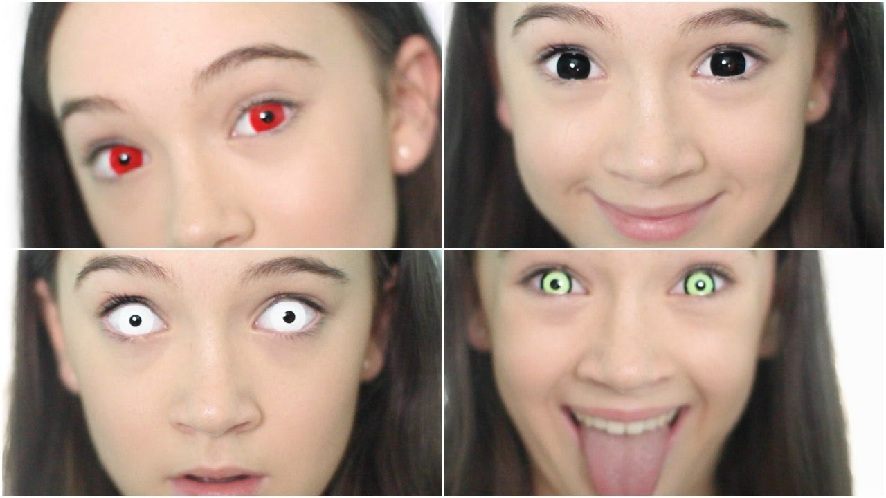 5 Crazy Creepy Color Contacts Color Contact Lookbook