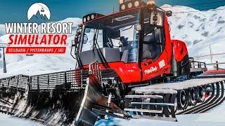 WINTER RESORT Simulator #1: Die Seilbahn fährt - die Piste wird präpariert | Preview