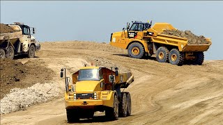 Building coastal protection | CAT 740B EJ / 972K / 347D / Volvo A40E | Waterdunen Breskens Holland