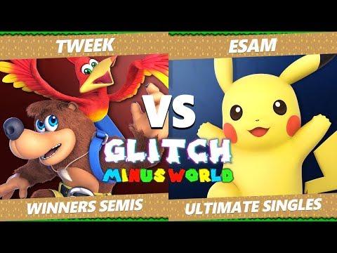 Glitch 7 SSBU - TSM Tweek (Banjo) VS PG ESAM (Pikachu) Smash Ultimate Winners Semifinals