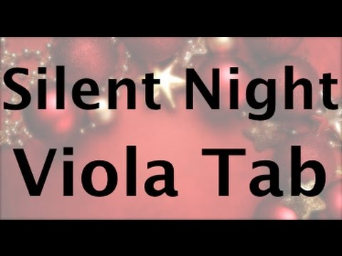 Silent Night Viola Tablature