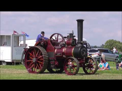 Traction engine and steam roller parade, West Oxon Steam & Vintage Show, Ducklington, 2016