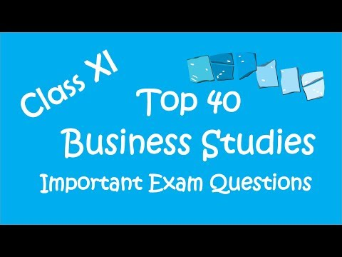 Business Studies Important Questions for Exams   Top 40   Class 11   CBSE   Hindi