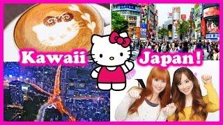 ♡KAWAII JAPAN♡ Hello Kitty Cafe, Tokyo Tower, & Shopping!