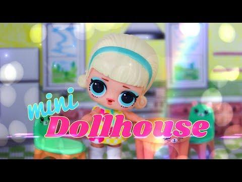 DIY - How to Make: Printable Mini Dollhouse Perfect for LOL Surprise | Shopkins | Little Kingdom &