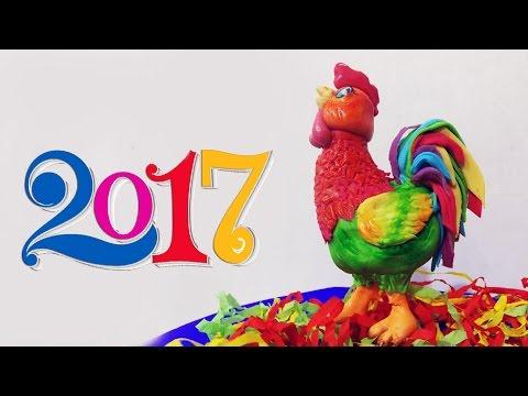 Петух символ 2017 года лепим из мастики / Cock the symbol of 2017 sculpt putty - Я - ТОРТодел!