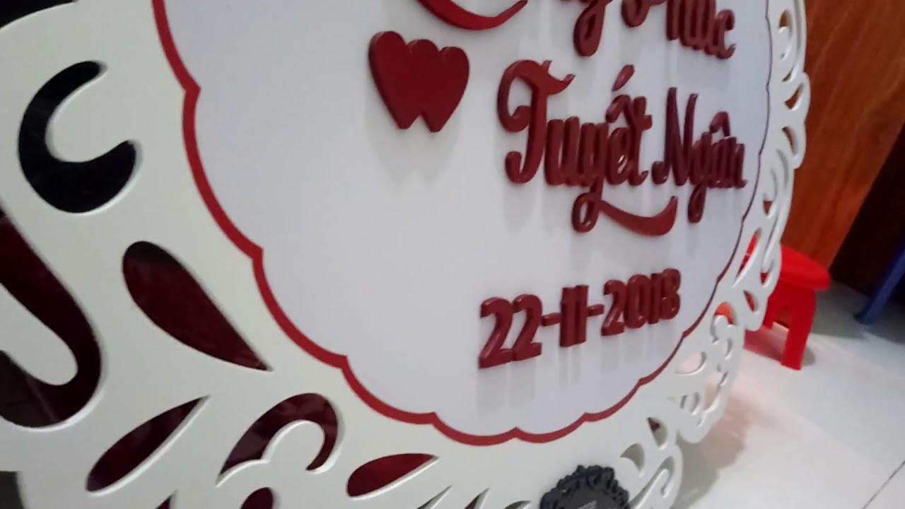 Bảng tên đám cưới  Bảng lễ đính hôn Bảng lễ vu quy Bảng chữ hỷ bảng tên dâu rể