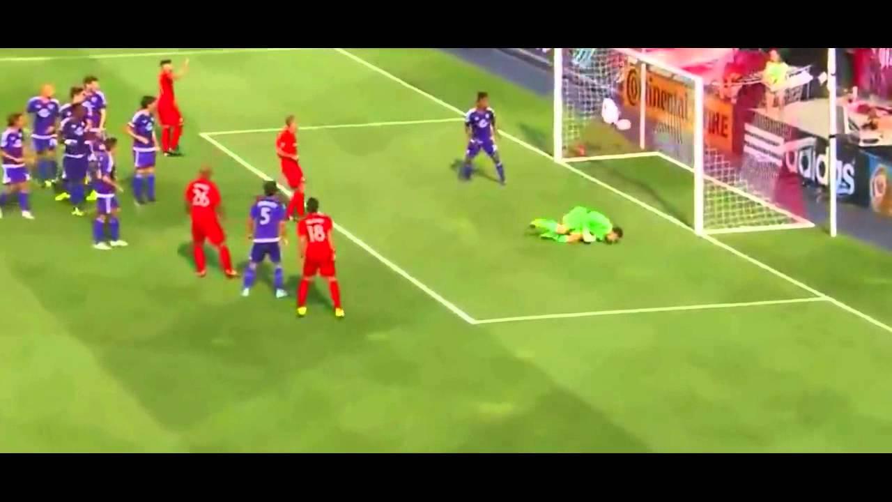 Sebastian Giovinco Amazing Free Kick Vs Orlando City 5 0 22 08 2015 Youtube