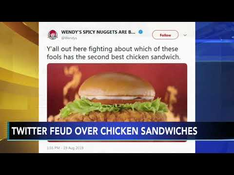Chris Michaels - #ChickenWars: Popeyes, Wendy's, Chick-fil-A beefing on social media LOLOL!
