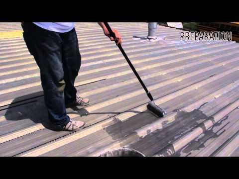 Roof Coating Restoration over Metal Application Instructions