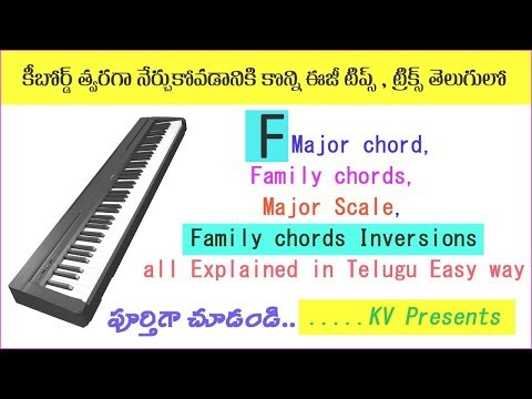 F major chord, Scale, Family chords & Inversions