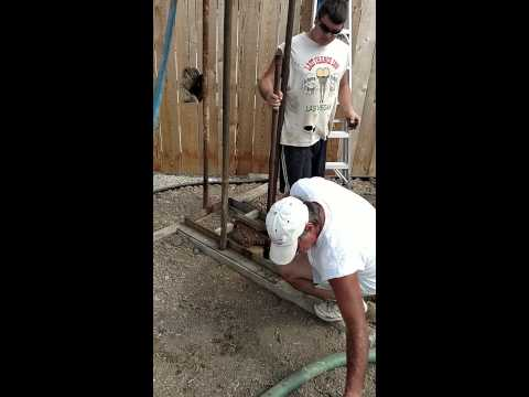 Home made drilling rig water well