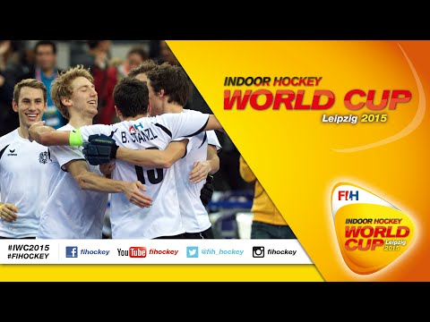 Austria vs Iran - Full Match Men's Indoor Hockey World Cup 2015 Germany Semi-Final