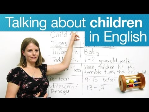 How To Talk About Children: Common Expressions