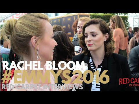 Rachel Bloom interviewed at the Creative Arts Emmy Awards Red Carpet Day 1 #Emmys #EmmysArts