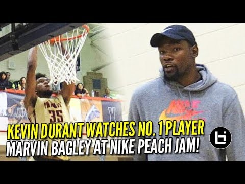 Kevin Durant IMPRESSED by  #1 Player Marvin Bagley At Nike Peach Jam!! Game Highlights!