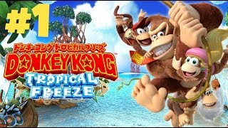 Donkey Kong Country Tropical Freeze Part 1 [ Wii U ] No Commentary Full HD Walkthrough 1080P