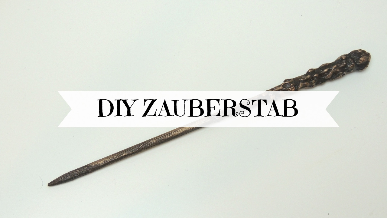 Diy Zauberstab I Harry Potter Youtube