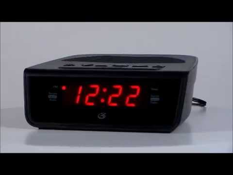 gpx c224b digital clock radio w dual alarms programmable sleep timer youtube. Black Bedroom Furniture Sets. Home Design Ideas