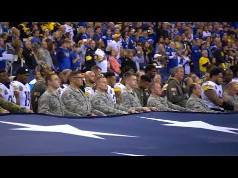 Challenger Flies at NFL Game Between Colts & Steelers - Salute to Service - Nov. 12, 2017