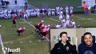 REACTING TO MY HIGH SCHOOL FOOTBALL HIGHLIGHTS W TDPRESENTS