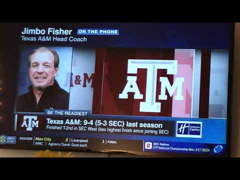 Texas A&M HC Jimbo Fisher on Paul Finebaum
