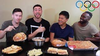 Michael Phelps Olympic Food Challenge   12,000 Calories