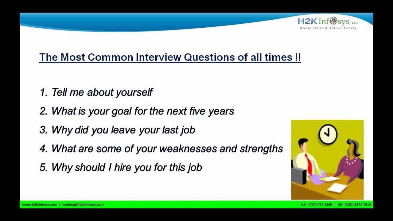 Most Common Interview Questions For QA Testing, Java, .net, Hadoop, Big  Data Etc | Part 1   YouTube  Common Interview Questions
