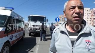 Ավտովթար Երևանում  բախվել են Iveco բետոնախառնիչ մեքենան ու շտապօգնության Ford  ը